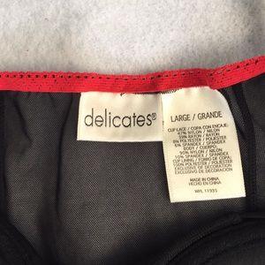 delicates Intimates & Sleepwear - Delicates Chemise Size L Sheer Black Mesh  NWOT